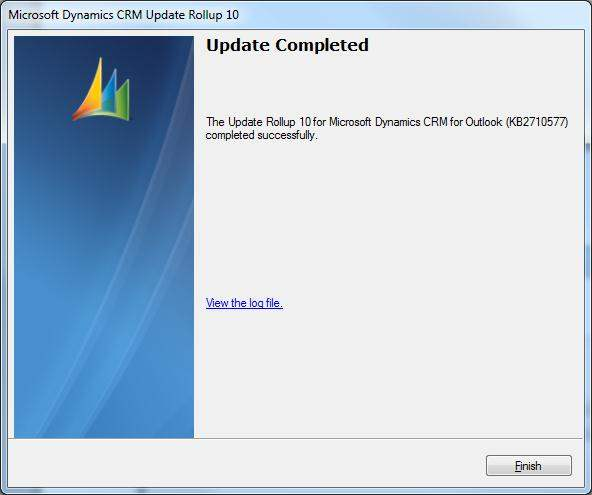 Update Completed CRM Rollup