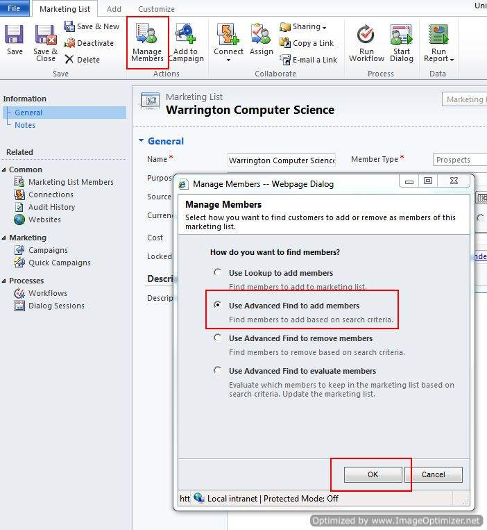 How to Create a Marketing List in CRM Dynamics 2011