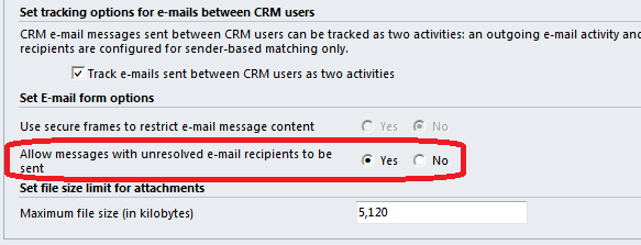 How to fix error recipients could not be resolved in CRM